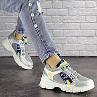 Женские кроссовки Fashion Demmi 1158 37 размер 23,5 см Серебро