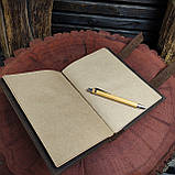 Кожаный блокнот А5 , персонализация, фото 10