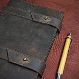 Кожаный блокнот А5 , персонализация, фото 9