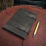 Кожаный блокнот А5 , персонализация, фото 8
