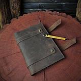 Кожаный блокнот А5 , персонализация, фото 7