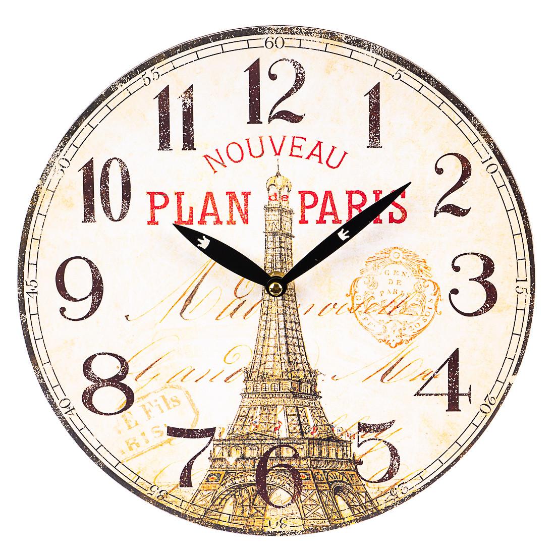 """Интерьерные часы в стиле Прованс """"Эйфелева башня"""" (29см) (010AL)"""