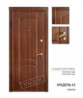 Металлическая входная дверь Страж модель 43 Стандарт, фото 1