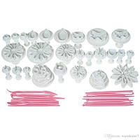 Набор форм для торта из пластика 11 моделей, 47 предметов пластиковые инструменты для тиснения печенья