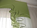 Жесткий ламбрекен Роспись Салатовый 2,5м, фото 2