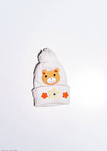 Дитячі шапки ISSA PLUS 7897 12 місяців молочний