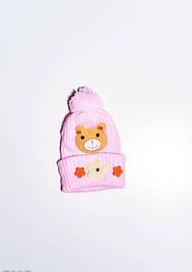 Дитячі шапки ISSA PLUS 7897 12 місяців рожевий