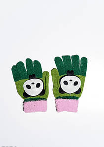 Дитячі рукавички і рукавиці ISSA PLUS 7874 Універсальний зелений/рожевий