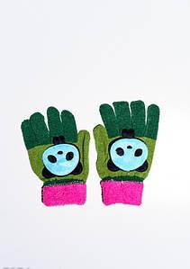Дитячі рукавички і рукавиці ISSA PLUS 7874 Універсальний зелений/малиновий