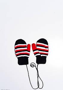 Дитячі рукавички і рукавиці ISSA PLUS 7871 12 місяців чорний