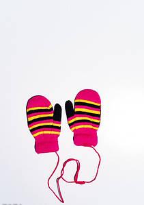 Дитячі рукавички і рукавиці ISSA PLUS 7871 12 місяців малиновий