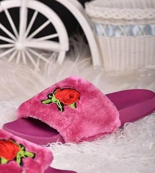 Тапочки кімнатні жіночі рожеві код Тп105