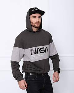 Толстовки ISSA PLUS GN-408 XL темно-серый/серый