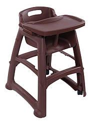 Детский стульчик для ресторана, коричневый