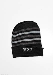 Чоловічі шапки ISSA PLUS 7901 Універсальний чорний/бузковий