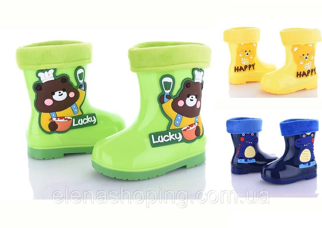 Яскраві гумові чобітки для хлопчика ОВТ (р25)
