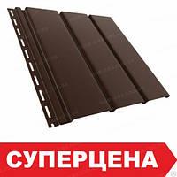 Софіт, сайдинг BRYZA (Бриза) коричневий RAL 8017 суцільний (без перфорації), фото 1