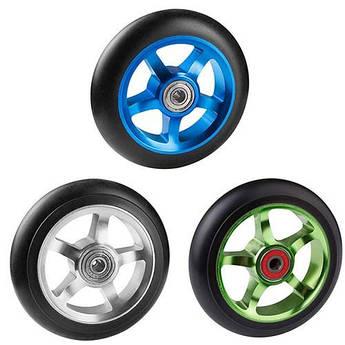 Колесо запасне для самоката, D=110мм, 5 спиць, алюміній, 3 кольору.