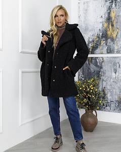 Пальто ISSA PLUS 12262 XL чорний