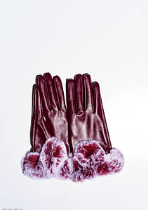 Женские перчатки ISSA PLUS 7879 Universal бордовый