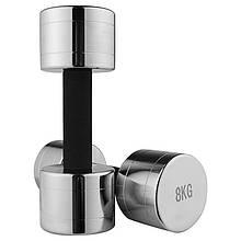 Lb Гантель хромированная с неопреновой защитой на грифе 8 кг 1 шт M11-281062