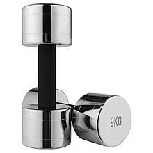 Lb Гантель хромированнаяс неопреновой защитой на грифе 9 кг 1 шт M11-281064