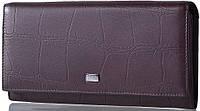 Качественный классический, кожаный кошелек для женщин WANLIMA (ВАНЛИМА) W72042410041-coffee