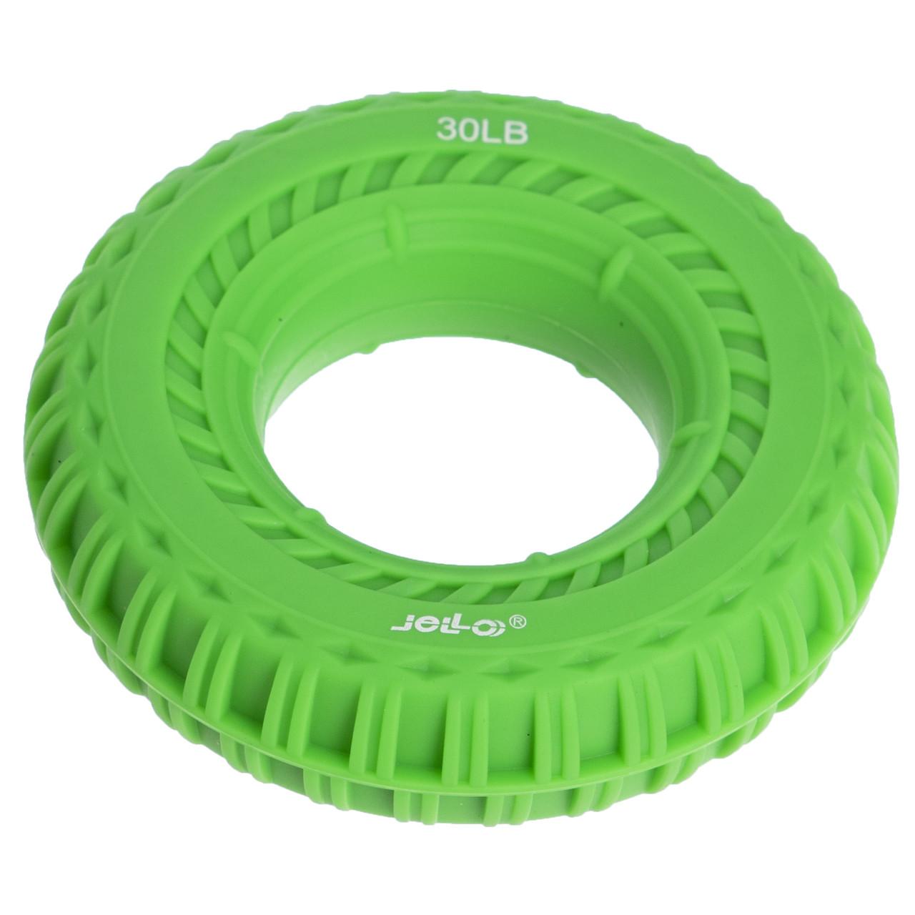 Еспандер кистьовий Кільце 13,5 кг зелений JELLO JLA470-30LB