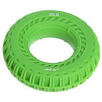 Еспандер кистьовий Кільце 13,5 кг зелений JELLO JLA470-30LB, фото 1