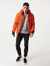 Чоловіча демісезонна куртка Riccardo V-1 Жовто-гарячий