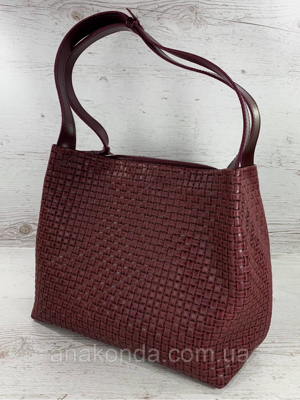733 Натуральная кожа Бордовая женская сумка на плечо тиснение 3D кожаная бордовая женская сумка мягкая