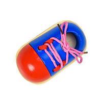 Ботинок Шнуровка 10*14 см