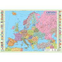 Європа 1: 10 000 000 політична 65*45 картон