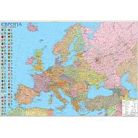 Європа 1: 5 400 000 Політична  (Картон) 110*77 см