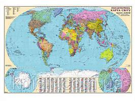 Світ 1: 22 000 000 Політична (на планке,картон/лак)