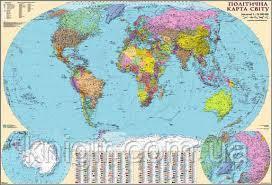 Світ 1: 32 000 000  Політична ( картон) 110-77 см