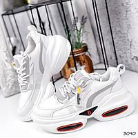 Кроссовки женские Rexty белые + серый 3090