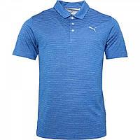 Поло Puma Performance Stripe Golf Blue Blue - Оригинал, фото 1