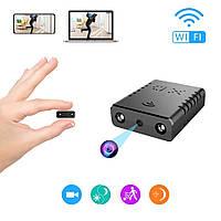 Мини WiFi камера беспроводная QZT XD, Full HD 1080P с детектором движения SD до 128 Гб Черная