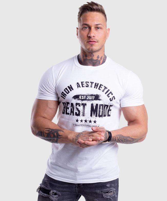 Чорно-біла чоловіча футболка BUTZ - №6642