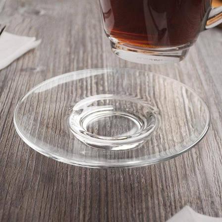 Стеклянное универсальное прозрачное блюдце ОСЗ Гламур (8с1349), фото 2