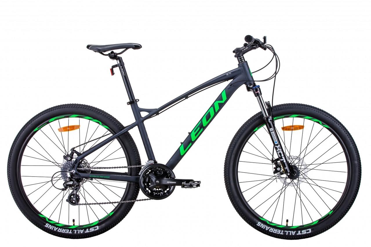 """Велосипед 27.5"""" Leon XC-90 2021 (графітовий з зеленим (м))"""