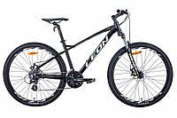 "Велосипед 27.5"" Leon XC-90 2021 (чёрно-белый c серым)"