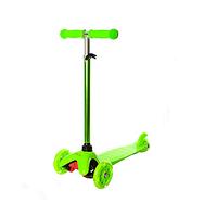 Детский трехколесный самокат BB 3-013-4-H светящиеся колеса от 3 лет (Зелёный)