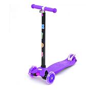 Детский трехколесный самокат BB 3-013-4-H светящиеся колеса от 3 лет (Фиолетовый)