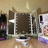 Зеркало для макияжа с LED подсветкой, фото 3