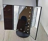 Косметическое зеркало для макияжа с LED подсветкой, фото 2