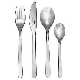 Комплект столових приладів IKEA FÖRNUFT 24 шт Сріблястий (700.149.99)