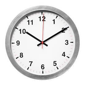 Часы IKEA TJALLA 28 см Бело-серый (803.578.78)