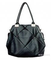 Оригинальная большая стильная женская сумка, черная